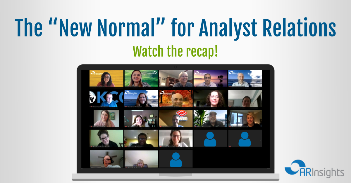"The ""New Normal"" For Analyst Relations"