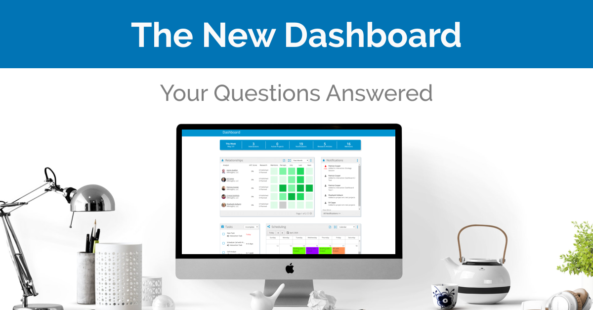 Dashboard: Webinar Recap with Q&A Review
