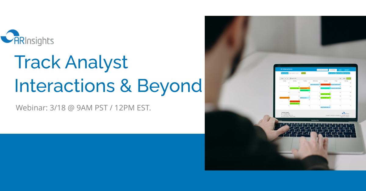 RECAP: Tracking Analyst Interactions & Beyond
